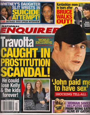 National Enquirer Jhon Travolta