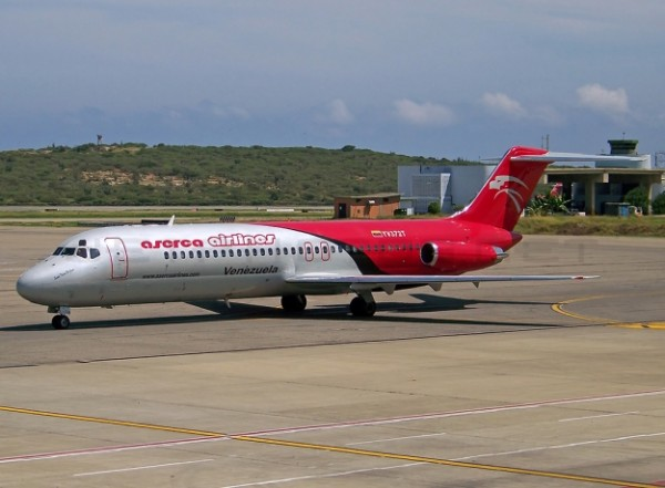 Avion MD82de la empresa Aserca