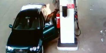 Insendio en gasolineria