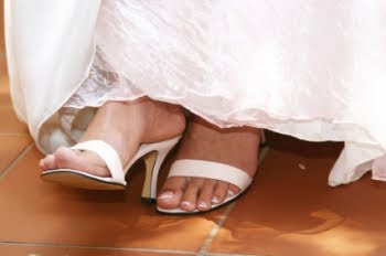 Novias con pies frios