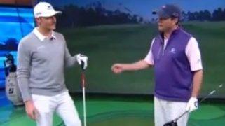 Jamie Sadlowshi rompe simulador de golf
