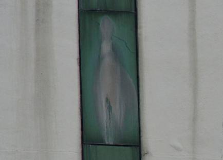 Virgen Maria aparece en ventana de hospital