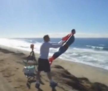 Superman vuela en california