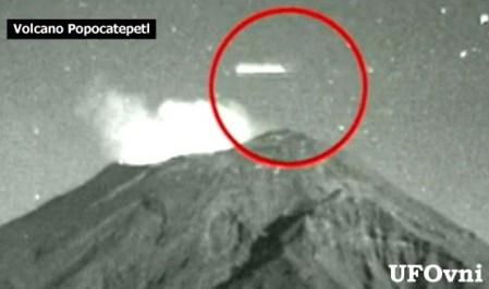 OVNI sobre el volcán Popocatéptl