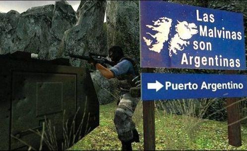 Con el videojuego  Counter Strike se pueden tomar las Islas Malvinas por la fuerza