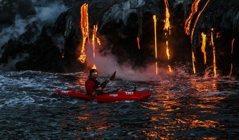 En kayak por el volcán Kilauea