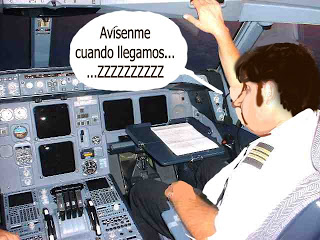 Pilotos se quedan dormido