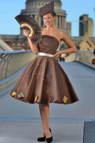 Vestido de chocolate