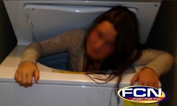 atrapada lavarropa