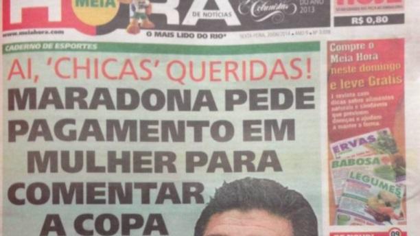 Maradona Brasil 2014 b