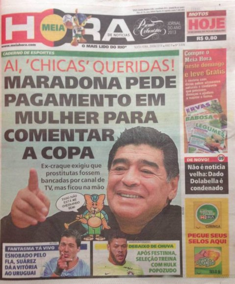 Maradona Brasil 2014