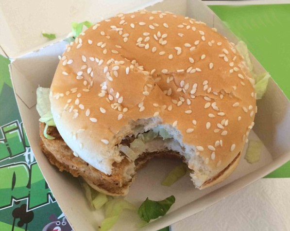 hamburguesa Mc Donald`s Mordida