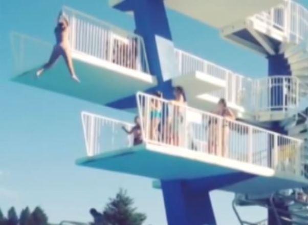 me cai del trampolin