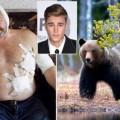 justin y el oso