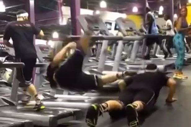 caida en el gym