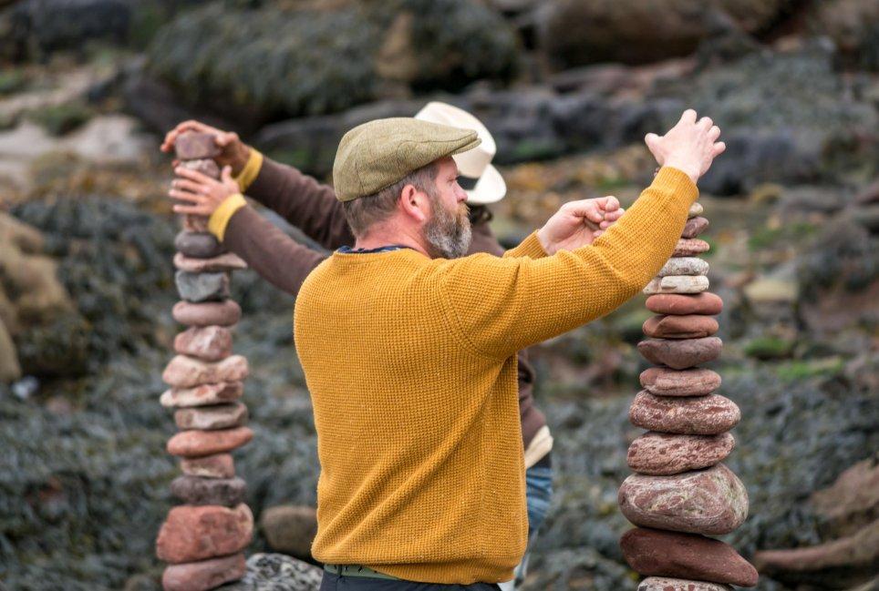 Competencia Apilamiento de Piedras
