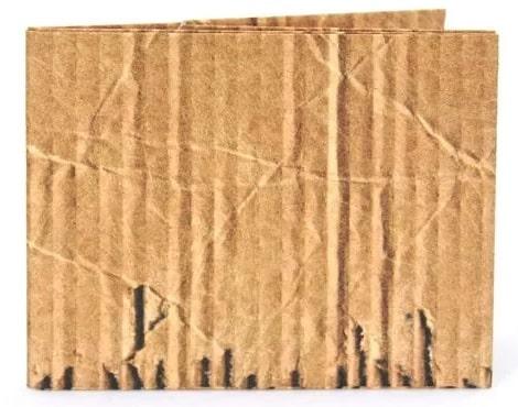 Ahora puedes comprar una billetera de cartón corrugado