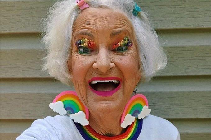 Te presentamos a Instagram Celebrity.  Baddie Winkle de apenas 92  años